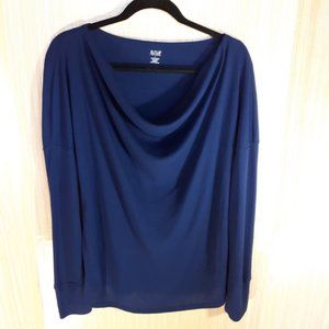 A.N.A thermal feel draped neck l/s top. Large